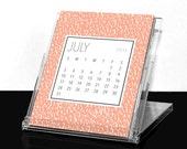 2016 Postcard Desk Calendar with Convertible Case Stand - (12) Twelve Month - Glossy Post Cards