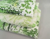 Vintage queen sheets with one case, Vera fern sheets, green sheets, queen size, mid century modern bedding
