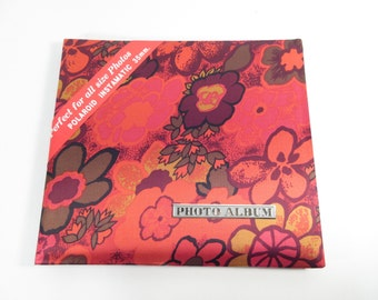 Vintage photo album, 1960s or 70s pink satin magnetic page photo alblm, blank album, wedding album, refillable photo album
