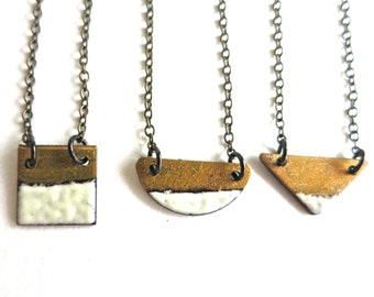 Tiny Enamel Reversible Necklace