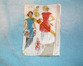 McCalls Vintage Sewing Pattern Cobbler Apron 1713