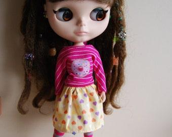 Blythe t shirt and skirt set