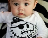 0 to 18 months ZombiePirate romper bodysuit onepiece All in one vest by Love Rocky