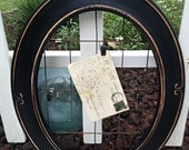 Frame Industrial Chic Photo Card Display Holder Worn Wire Clips Banner Hanger Metal Chippy Black Ornate Re-purposed Picture Kim Kohler