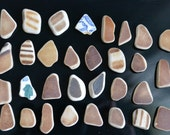 31 small  pieces of smooth beach pottery BPL9