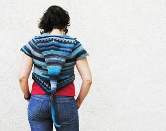Bertille hooded bolero -Pdf crochet pattern - Summer festival, elfin hood - Size XS to XL