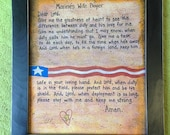 Army Wifes Prayer framed print custom for Military wife navy marines US Air Force customized