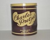 Vintage Charles Pretzels Can
