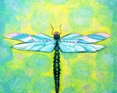 ON SALE Dragonfly print by Shelagh Duffett