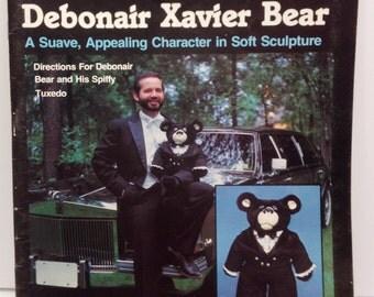 1982 Debonair Xavier Bear - Pattern Book for 26 inch Bear Uncut
