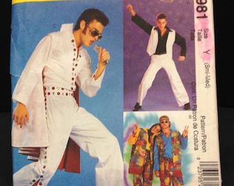 McCall's 2981 Adult Elvis Hippie Disco Fever Halloween Costume Pattern Sz S/M Uncut