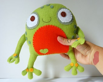 The Frog Plush / Stuffed Eco friendly Toy