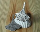 Hand hammered matte finish silver plated leaf dangle drop pendant size 37x30mm, 2 pcs (item ID XW03687SPK)