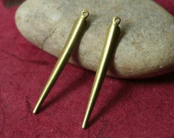 Solid brass drop dangle size 34x4mm (item ID XW04228)