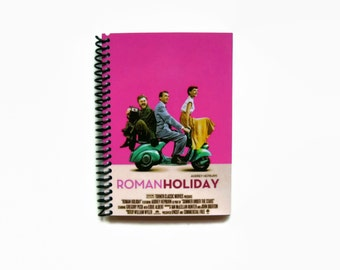 Roman Holiday Travel Pocket Spiral Bound Journal, 4x6 Inches, Audrey Hepburn, Blank Sketchbook, Writing, Notebook, Gifts for Her Under 15