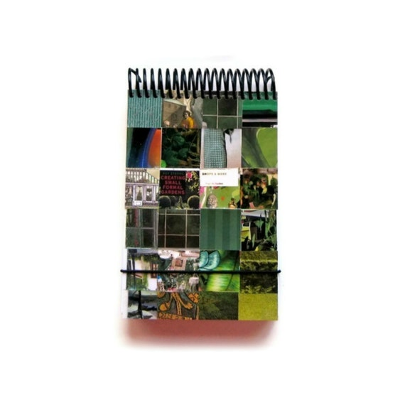Reporter Notebook - Cute Notepad Spiral Bound - Shades of Green - 4.33x6.7in