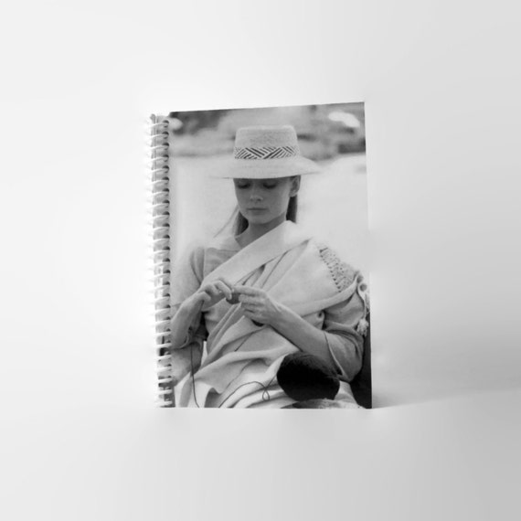Audrey Hepburn, Writing Journal, Gift Under 15, 4x6, Blank Journal, Spiral Bound Journal, Blank Sketchbook, A6 Notebook, Spiral Notebook