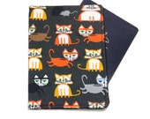 Cats on Slate Grey Travel Passport Cover/Holder/Wallet