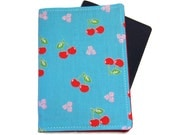 Cherries on Blue Passport Cover/Holder/Wallet