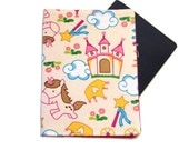 Princess Castle and Unicorn on Cream Passport Cover/Holder/Wallet