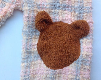 Private Order for Rebekah - Teddy bear Chenille Pant -Size 4