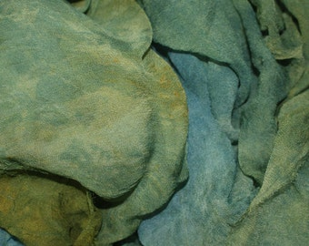 Hopper's World in  Hand Dyed Silk Gauze  for Nuno Felting