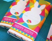 Instant Download - EASTER Chocolate Candy Bar Wrappers Printable (Pink)