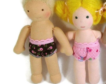 Waldorf doll clothing TWO PAIRS of undies for 7 to 8 inch waldorf doll