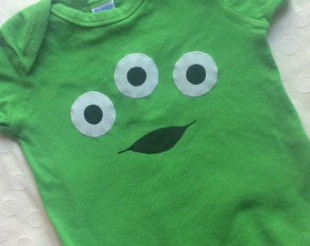 Three Eyed Alien Baby Bodysuit