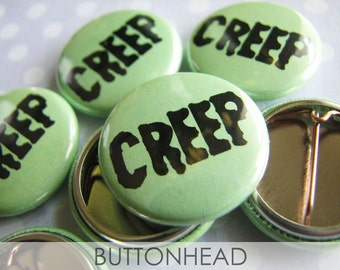 Halloween Party Favors - Creepy Creep Buttons - 1 Inch Small Pinback (Set of 10)