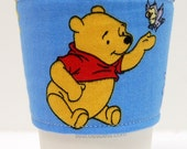 Coffee Cozy, Cup Sleeve, Eco Friendly Slip-on: Winnie the Pooh