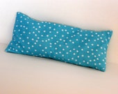 Aqua Polka Dot Eye Pillow, Eye Pillow w Removable Cover, Lavender Scented Eye Pillow, Relaxation Eye Pillow,