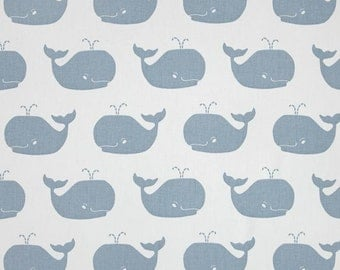 Whale curtains weathered blue white whale curtains blue white whale premier print fabrics 25 inches wide 63, 72 or 84