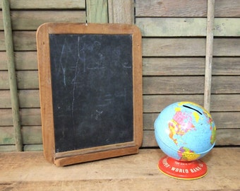 Free Shipping Vintage small Chalk Board with chalk tray School Slate as-is