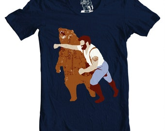 Man Punching Bear T-shirt