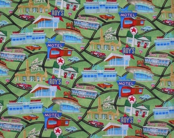 Route 66 Diners And Drive-Ins - From Timeless Treasures - 1 Yard - 8.50 Dollars