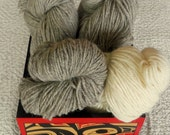 SALE Canadian wool 1 lb total eco friendly yarn knitting weaving crochet felting destash from Raincoaststudio on Etsy