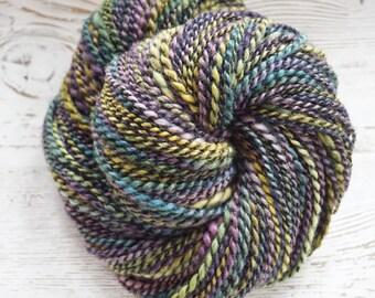Handspun Yarn, Hand Spun Yarn, BFL, Worsted, Cotton, Thread