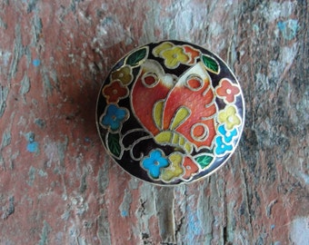 Butterfly Cloisonne Pendant Focal Butterfly Bead