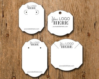 Custom Frame Shape Earring Necklace Display Cards with your Logo