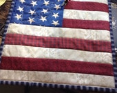 Patriotic mini quilt potholder