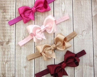 Beautiful Hair Bow Headband - Baby Headband -Child Headband- Photo Prop