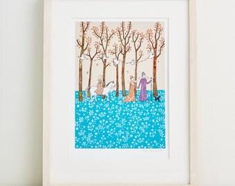 Magic Wood - Print of my illustration