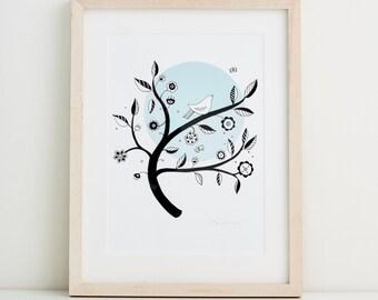 Blue Moon Fine Art Print