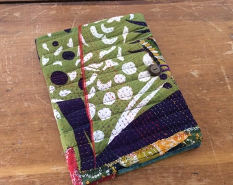 Kantha Journal - COMPOSITION Notebook Book Cover - urban Gypsy Quilt