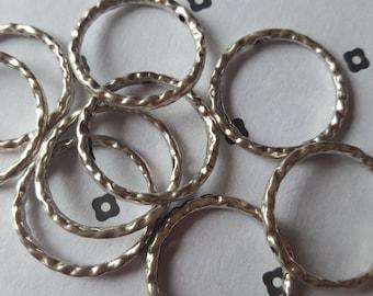 Antique Silver Link Connector (10)