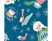 NEW from Camelot Fabrics, Winter Wonderland, Ice Princess on Blue by Heather Rosas, yard