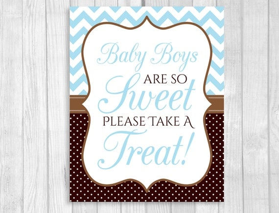 Baby Boys Are So Sweet Please Take A Treat 5x7 or 8x10