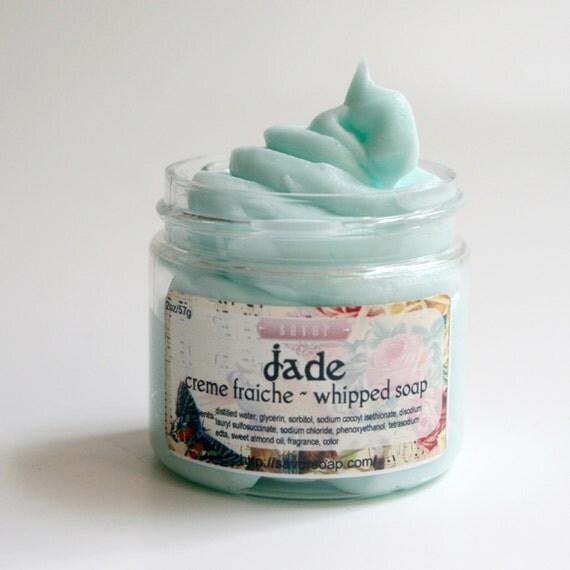 fluffy whipped soap jade 2 oz mini creme fraiche vegan. Black Bedroom Furniture Sets. Home Design Ideas