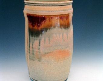 Handmade Pottery Vessel Vase Wine Chiller in Porcelain